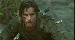 Christian Bale takes it like a man in Rescue Dawn.