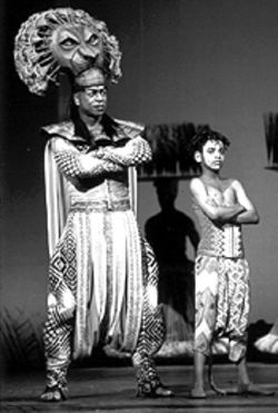 Alton Fitzgerald White and Denver's Akil I. LuQman in The Lion King.