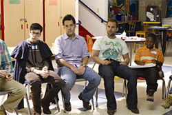 Christopher Mintz-Plasse, Paul Rudd, Seann William Scott and Bobb'e J. Thompson star in Role Models.