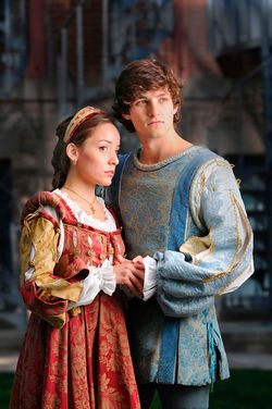 Jamie Ann Romero and Ben Bonenfant in Romeo and Juliet.