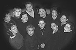The cast of The House of Bernarda Alba.