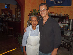 Virgil and Oscar Aguirre at Rosa Linda's Mexican Cafe.