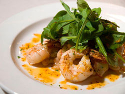 Row 14 circles the globe with dishes like shrimp diavolo. Slideshow: Food Porn from Row 14