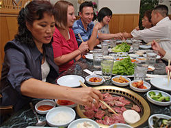 Sae Jong Kwan makes a special occasion of a group meal.