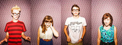 Hot stuff: CJ MacLeod (from left), Samantha Davis, Ethan Hill and Molly Bartlett are Sauna.