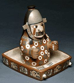 &quot;Masked Dignitary in a Litter,&quot; Wari-style ceramic.