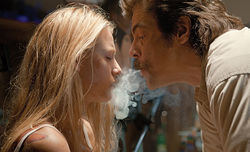 Blake Lively and Benicio Del Toro star in Savages.