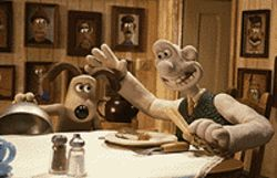 Labor of love: Gromit (left) and Wallace in their 