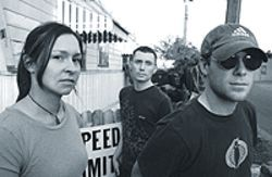 Fear factory: Sarah Marcogliese (from left), Ryan  Policky and Gabriel Ratliffe are Drop the Fear.