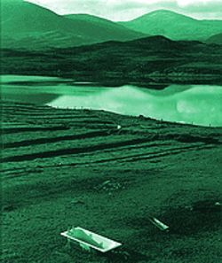 &quot;Tub in Field, Outer Hebrides, Scotland, 1997,&quot; by Ron Wohlauer, photo.