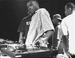Scratch 'em if you got 'em:  DJ Rob Swift of the X-ecutioners (shown here at past events) is one of the judges in this year's DMC turntable competition.