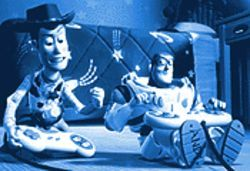 Woody gets a Buzz in Toy Story 2.