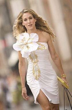 Sarah Jessica Parker as Carrie Bradshaw.