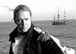 Arrgh! Russell Crowe sails on in Master and  Commander.