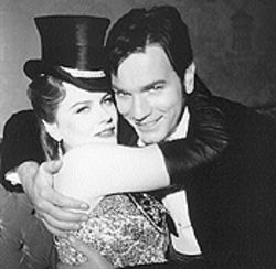 Two-la-la! Nicole Kidman is the songbird for Ewan McGregor's lark in Moulin Rouge.