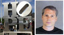 Hope floats: Shepard Fairey's mug shot is not the image everyone is talking about.