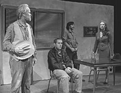 Bruce Wilson (from left), Benjamin Summers, Steven  Scot Bono and Mary-Laurence Bevington in Fool  for Love.