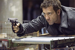 Clive Owen lives up to the film title in Shoot 'Em Up.