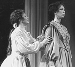 Jane Dutton and Stacey Rishoi in Little Women.