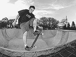 Concrete dreams: Grindline founder Mark Hubbard  skates all his designs.