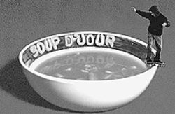 Real riders fill the screen in Soup d' Jour.