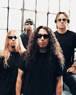 Devil's advocate: Jeff Hanneman (from left), Kerry  King, Tom Araya and Dave Lombardo are Slayer.
