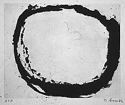 """Foul Bite,"" by Richard Serra, etching."