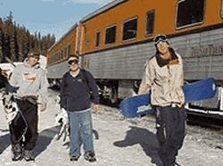 The Ski Train takes the scenic route to Winter Park.
