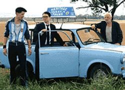 Mystery trip: Eugene Hutz, Elijah Wood and Boris  Leskin hit the road in Everything Is Illuminated.