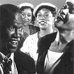 Four of the five cast members of Ain&#039;t Misbehavin&#039;.