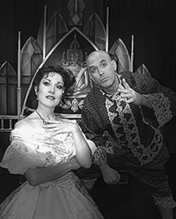 Shelly Cox-Robie and Wayne Kennedy in The King  and I.