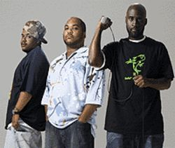 Soul on a roll: Dave (from left), Mase and Posdnous 