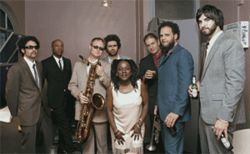 The Dap-Kings know where Sharon Jones belongs:  front and center.