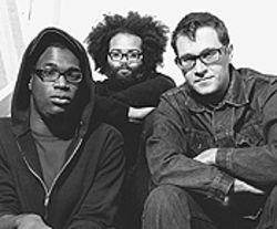 The idiot box gets smart: Tunde Adebimpe (from left),  Kyp Malone and David Sitek of TV on the Radio.