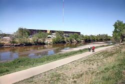 The South Platte separates the Taxi development from the rest of River North (shown); the confluence of Sand Creek and the South Platte, where Suncor Energy is seeking to contain a benzene plume. Video: Take a fast-forward ride down the South Platte River trail