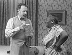 Deadly duo: Tom Hanks matches wits with Irma P.  Hall in The Ladykillers.