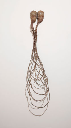 """I-25 Mambo,"" by Yoshitomo Saito, bronze cast from nature."