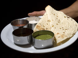 Roti, unleavened flatbread. See a photo slideshow from inside Yak and Yeti.