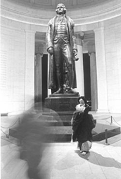 "I see dead people: ""Spirit and X at Jefferson Memorial,""  by Joseph Triscari."