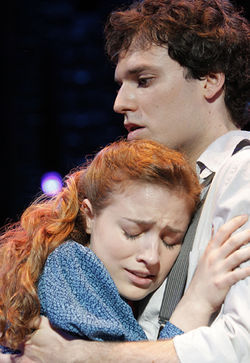 Christy Altomare and Jake Epstein in Spring Awakening.