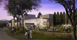View of the proposed Tryba addition to the Colorado  Springs Fine Arts Center.