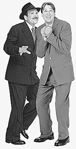 Lewis J. Stadlen and Alan Ruck in The  Producers.