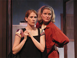 It's a mad world: Karen LaMoureaux and Martha Harmon Pardee in Squall.