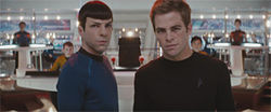 Chris Pine and Zachary Quinto boldly star in Star Trek.