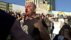 Video taken at the concert shows James Christensen moments after he was attacked.