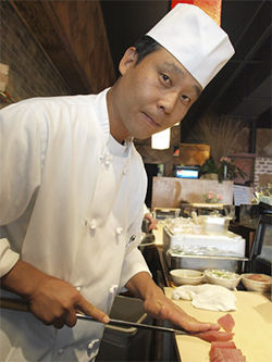 Chef/owner Hong Young at the cutting-edge Sushi Katsuya.