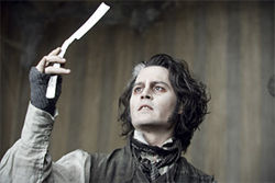 Johnny Depp makes music in the title role of Sweeney Todd.