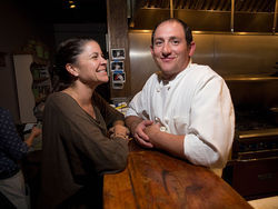 Amy Vitale and Dustin Barrett are partners in life and at Tables, their Park Hill restaurant.