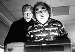 Brian Thorstenson (left) and Josh Kornbluth in Haiku Tunnel.