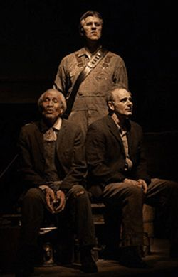 """Mississippi"" Charles Bevel, Dan Wheetman and Ed  Snodderly in Fire on the Mountain."